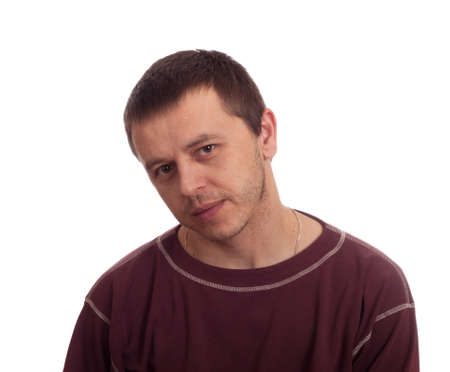 Portrait man isolated on white Stock Photo - 12510182