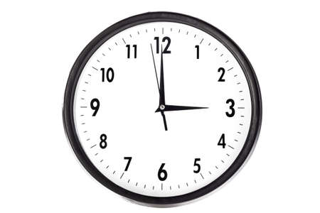 Wall clock, photo on the white background Stock Photo - 13057707