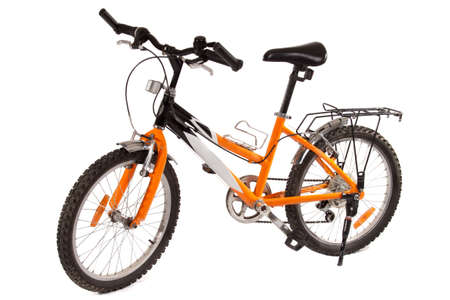 children s mountain bike, isolated on white photo
