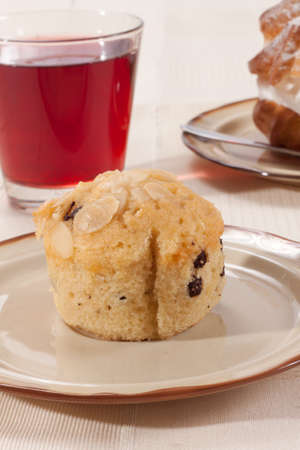 Cherry Muffin on a plate  photo