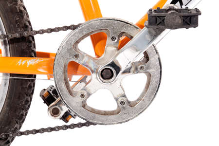 sprocket: Bike gear wheel and pedal