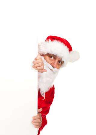 Santa Claus, photo on the white background photo