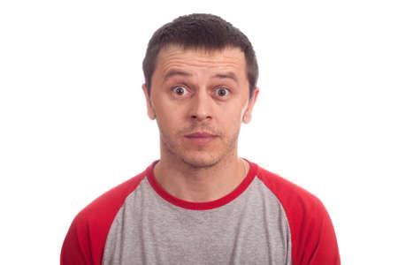 Portrait man isolated on white Stock Photo