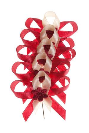 Celebration bows, isolated on white Stock Photo