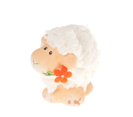 Easter sheep, isolated on white