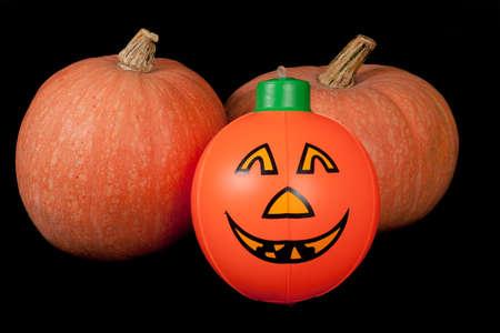 Halloween orange pumpkin - on black