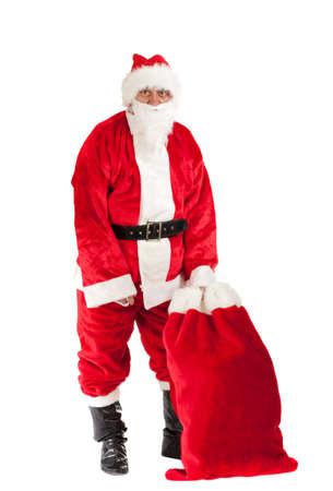 Santa Claus, photo on the white background  Stock Photo