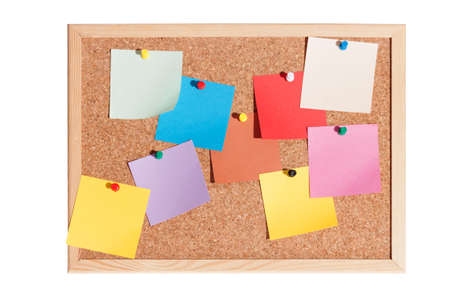 Notice board isolated on white