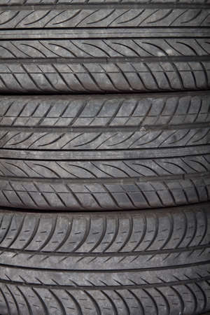 Used, dirty tires, abstract background