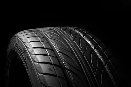 Car tire, photo on the white background