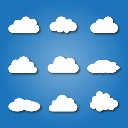 in clouds: nuvole Vettoriali