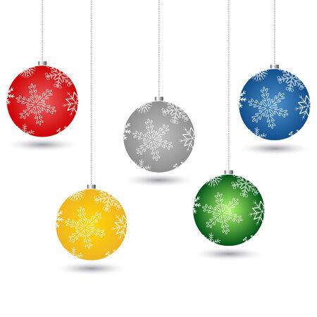 xmas tree balls Vector