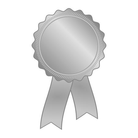 zilvergrijs leeg award rozet met lint