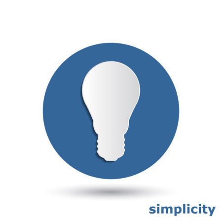 simple light bulb with 3d effect Vector