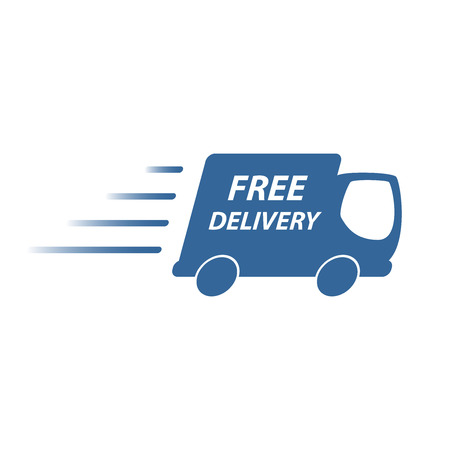 free sign: delivery truck Illustration