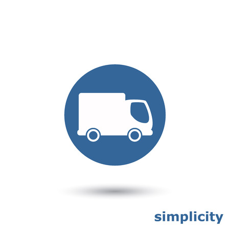 simple truck icon Vector