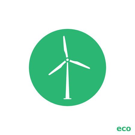 wind turbine: �olienne ic�ne Illustration