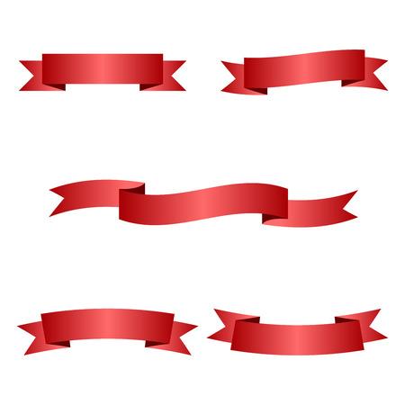 red ribbons Vettoriali