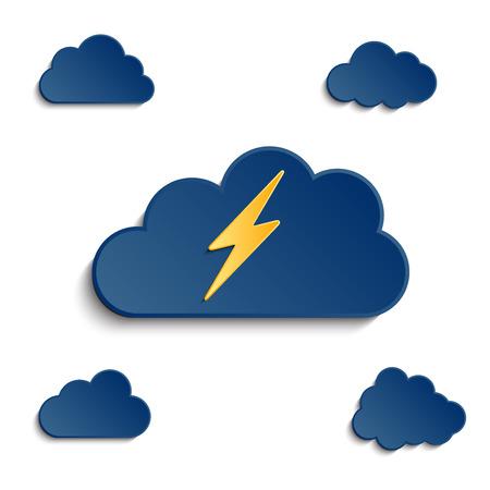 lightening: diferentes nubes con efecto 3D y rel�mpagos