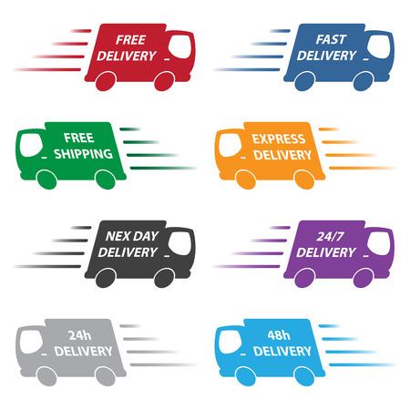 bestelwagens Stock Illustratie