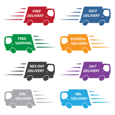 express delivery: delivery trucks