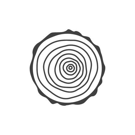 rings on a tree: tree rings Illustration
