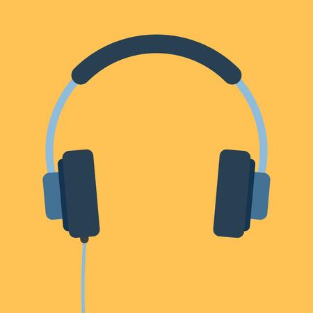 wired headphones Vector