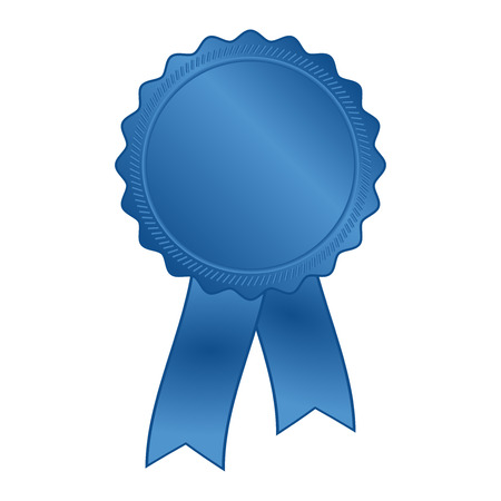 blue rosette with ribbon Vettoriali