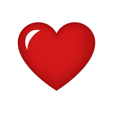 corazón rojo para el día de San Valentín Vectores