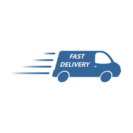 fast shipping: delivery van