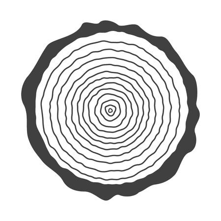 log on: log, tree rings