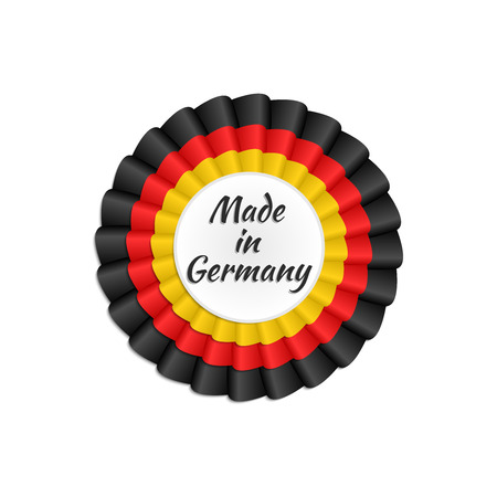 made in germany: Made in Germany rosette with German flags colors