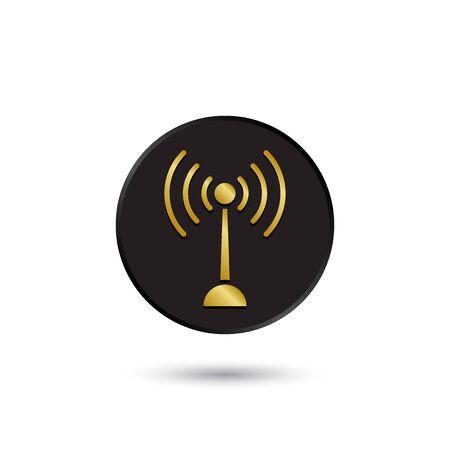 simple logo: Simple gold on black Wifi icon logo