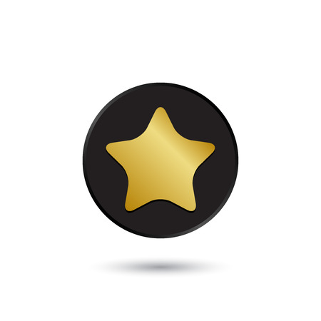 ease: Simple gold on black star icon