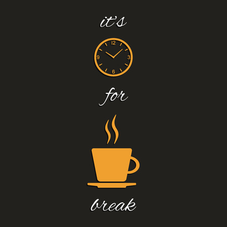Time for coffee vector illustration
