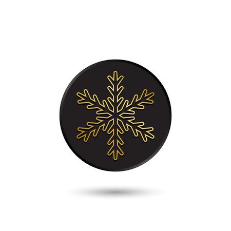simple logo: Simple gold on black snowflake icon logo