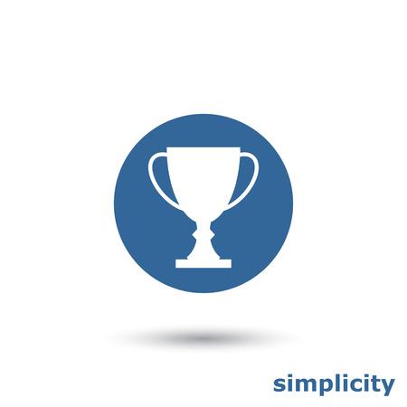 Eenvoudige trofee koppictogram