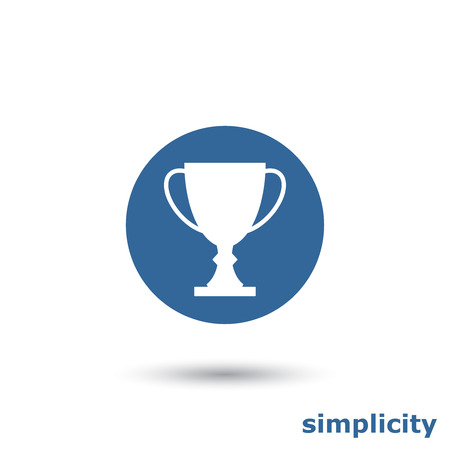 Simple trophy cup icon