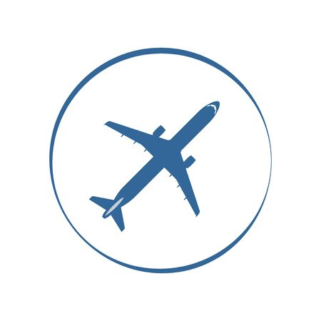 commercial airplane: Commercial airplane silhouette