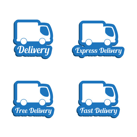 moving truck: Delivery symbols set