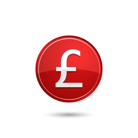 great britain: Great Britain Pound icon Illustration