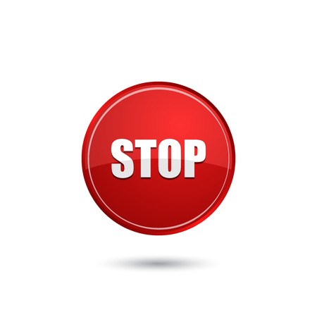 stop icon: Stop sign icon