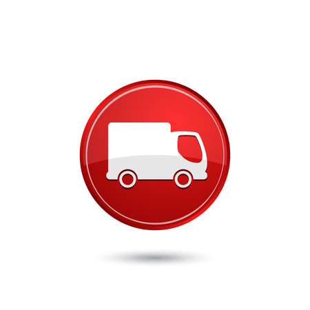 cargo transport: Delivery truck icon