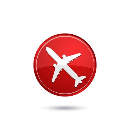 air liner: Airplane icon Illustration
