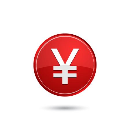 Icône yen japonais Banque d'images - 43852675