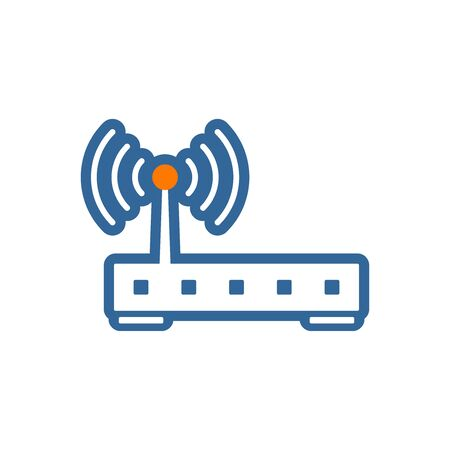 wireless hot spot: Wireless router vector icon