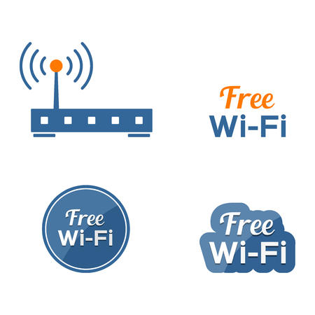 wifi sign: Wireless router vector icon, free wifi sign