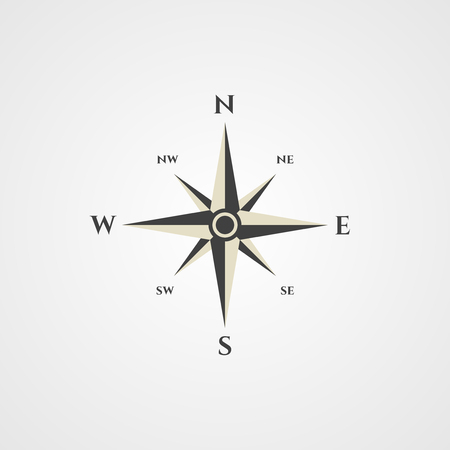 compass rose: Wind rose, compass icon Illustration