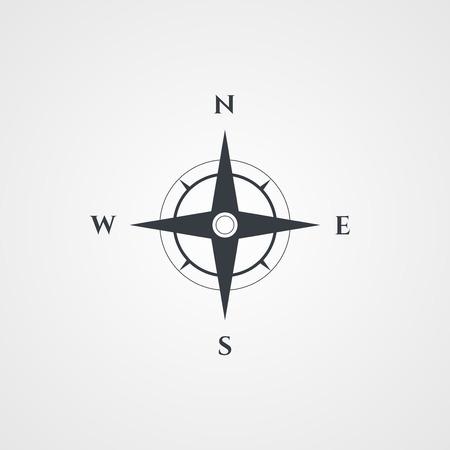 Wind rose, compass icon Vettoriali