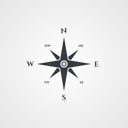 wind rose: Wind rose, compass icon Illustration